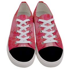 Pink Hearts Pattern Women s Low Top Canvas Sneakers