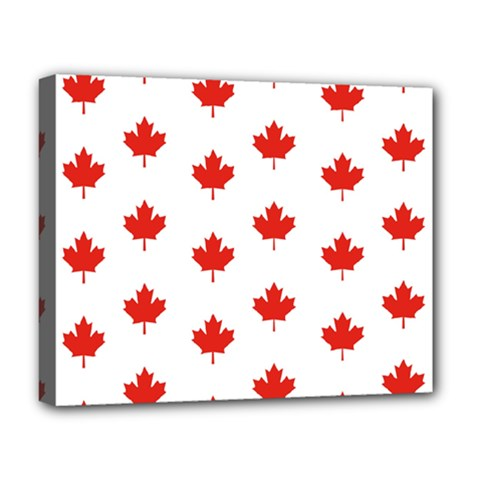 Maple Leaf Canada Emblem Country Deluxe Canvas 20  X 16   by Celenk