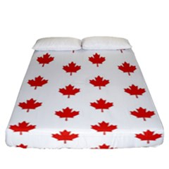 Maple Leaf Canada Emblem Country Fitted Sheet (california King Size) by Celenk