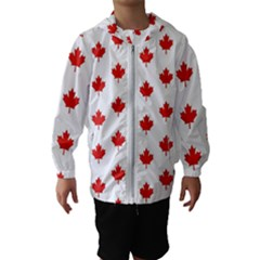 Maple Leaf Canada Emblem Country Hooded Wind Breaker (kids)