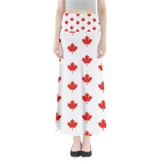 Maple Leaf Canada Emblem Country Full Length Maxi Skirt