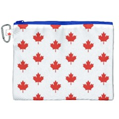 Maple Leaf Canada Emblem Country Canvas Cosmetic Bag (xxl) by Celenk