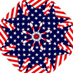 Patriotic Usa Stars Stripes Red Folding Umbrellas by Celenk