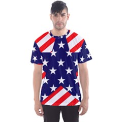 Patriotic Usa Stars Stripes Red Men s Sports Mesh Tee
