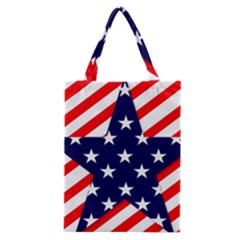 Patriotic Usa Stars Stripes Red Classic Tote Bag