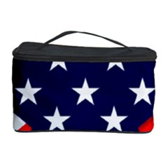 Patriotic Usa Stars Stripes Red Cosmetic Storage Case
