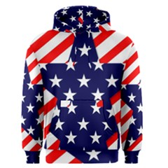 Patriotic Usa Stars Stripes Red Men s Pullover Hoodie