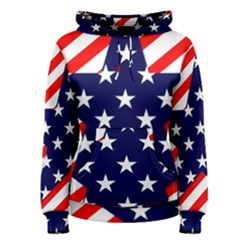 Patriotic Usa Stars Stripes Red Women s Pullover Hoodie