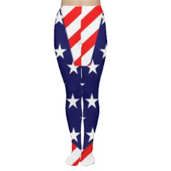 Patriotic Usa Stars Stripes Red Women s Tights