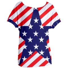 Patriotic Usa Stars Stripes Red Women s Oversized Tee