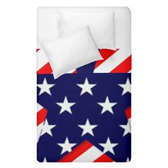Patriotic Usa Stars Stripes Red Duvet Cover Double Side (Single Size)