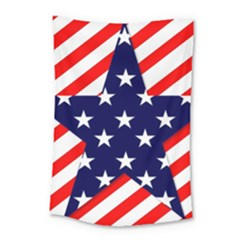 Patriotic Usa Stars Stripes Red Small Tapestry