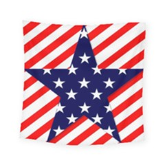 Patriotic Usa Stars Stripes Red Square Tapestry (Small)