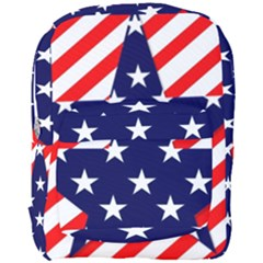 Patriotic Usa Stars Stripes Red Full Print Backpack