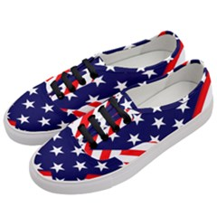 Patriotic Usa Stars Stripes Red Women s Classic Low Top Sneakers