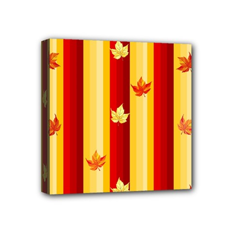 Autumn Fall Leaves Vertical Mini Canvas 4  X 4  by Celenk