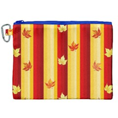 Autumn Fall Leaves Vertical Canvas Cosmetic Bag (xxl)