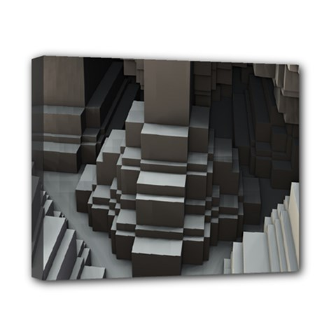 Fractal Render Cube Cubic Shape Canvas 10  X 8  by Celenk