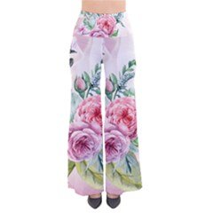 Flowers And Leaves In Soft Purple Colors Pants by FantasyWorld7