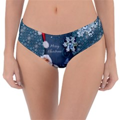 Funny Santa Claus With Snowman Reversible Classic Bikini Bottoms by FantasyWorld7