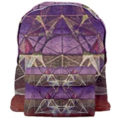 Cube Of Metatrone Diamond Giant Full Print Backpack by Cveti