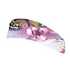 Butterflies With White And Purple Flowers  Stretchable Headband by allthingseveryday