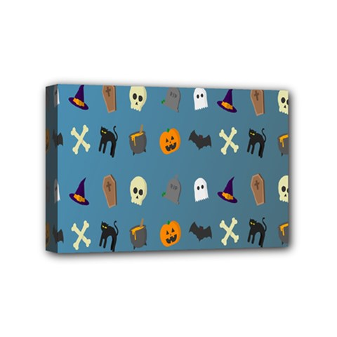 Halloween Cats Pumpkin Pattern Bat Mini Canvas 6  X 4  by Celenk