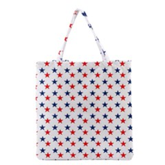 Patriotic Red White Blue Stars Usa Grocery Tote Bag