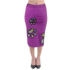Footprints Paw Animal Track Foot Midi Pencil Skirt by Celenk