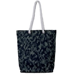 Camouflage Tarn Military Texture Full Print Rope Handle Tote (small)