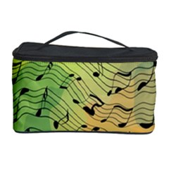 Music Notes Cosmetic Storage Case by linceazul