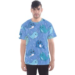 Cute Narwhal Pattern Men s Sports Mesh Tee by allthingseveryday