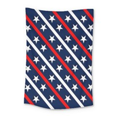 Patriotic Red White Blue Stars Small Tapestry