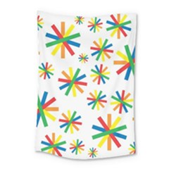 Celebrate Pattern Colorful Design Small Tapestry