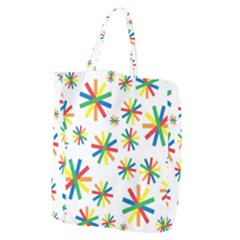 Celebrate Pattern Colorful Design Giant Grocery Zipper Tote
