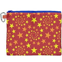 Star Stars Pattern Design Canvas Cosmetic Bag (xxxl) by Celenk