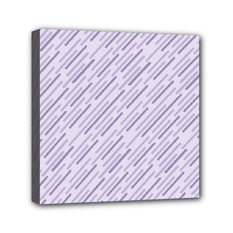 Halloween Lilac Paper Pattern Mini Canvas 6  X 6