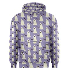 Bat And Ghost Halloween Lilac Paper Pattern Men s Pullover Hoodie