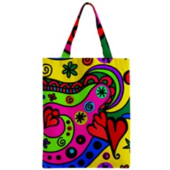 Seamless Tile Background Abstract Zipper Classic Tote Bag by Celenk