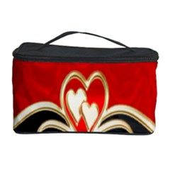 Red Black Background Wallpaper Bg Cosmetic Storage Case by Celenk