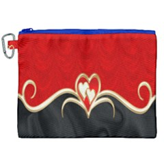 Red Black Background Wallpaper Bg Canvas Cosmetic Bag (xxl) by Celenk