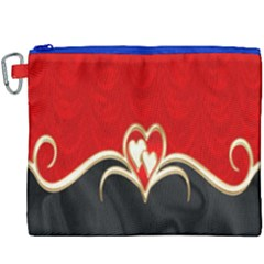 Red Black Background Wallpaper Bg Canvas Cosmetic Bag (xxxl) by Celenk