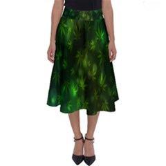 Bokeh Background Texture Marijuana Perfect Length Midi Skirt