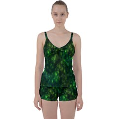 Bokeh Background Texture Marijuana Tie Front Two Piece Tankini by Celenk