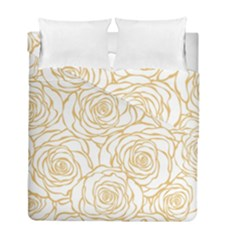 Yellow Peonies Duvet Cover Double Side (full/ Double Size) by 8fugoso