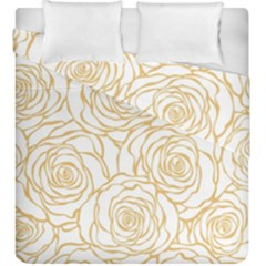 Yellow Peonies Duvet Cover Double Side (king Size) by 8fugoso