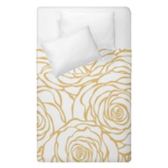 Yellow Peonies Duvet Cover Double Side (single Size) by 8fugoso
