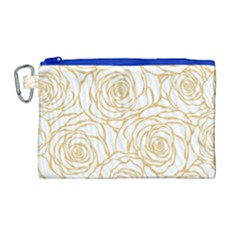 Yellow Peonies Canvas Cosmetic Bag (large) by 8fugoso