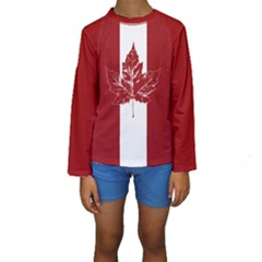 Cool Canada Kids  Long Sleeve Swimwear by CanadaSouvenirs