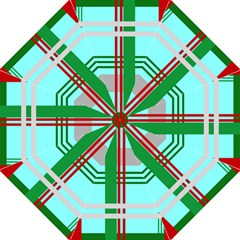 Christmas Plaid Backgrounds Plaid Folding Umbrellas by Celenk